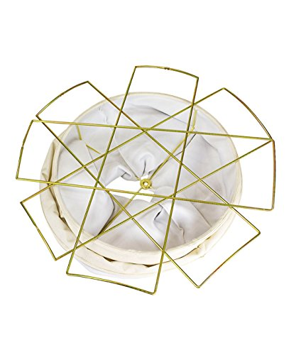 HomeConcept 161822DRLO Collapsible Drum Lamp Shade Premium Light Oatmeal Linen, 16'' x 18'' x 22'' by HomeConcept (Image #1)