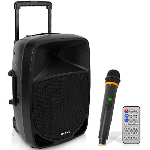 PYLE PSBT125A draagbare sono-luidspreker met accu, 1200 W, met WOOFER 30,5 cm (12 inch), Bluetooth, USB, MP3, FM…