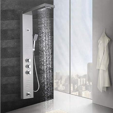 Shower system Níquel Negro Precipitación Cascada Ducha Panel ...
