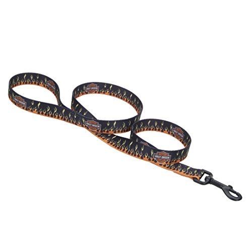 "Harley-Davidson Flames Nylon Leash Black 3/8"" x 4' - 3/8"" x 4'"