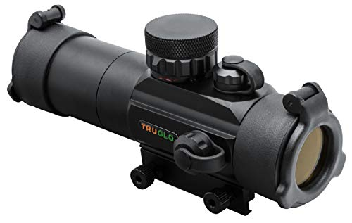 TRUGLO Red-Dot Sight 30mm Gobble-Dot Dual-Color Black (Best Turkey Hunting Shotgun Scope)