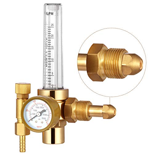 - HZXVOGEN Flowmeter Argon Co2 Gas Regulator Tig Mig Welding Pressure Reducer Flow Gauge