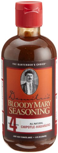 Demitri's Bloody Mary Seasoning, Chipotle-Habanero, 8-Ounce Bottles (Pack of 3)