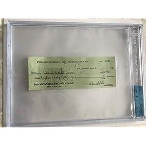 1938 Bert Bell Philadelphia Eagles Commissioner Autographed Signed Check Auto NFL Bgs Jsa