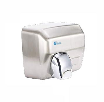 AA-SS Secador de Manos, inducción automática, Acero Inoxidable, secador de Manos, Velocidad Comercial, Viento de 360 Grados.: Amazon.es: Hogar