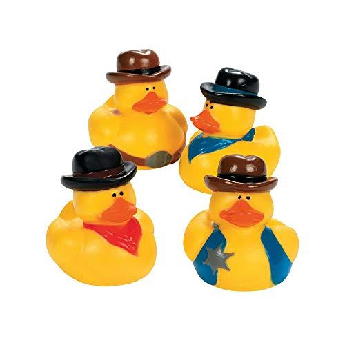 One Dozen (12) Cowboy Rubber Duck Party