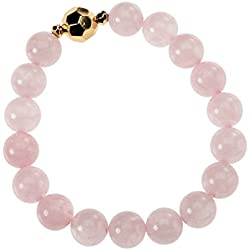 Occasionally Made O-JM-BST-RQZ Beaded Stretch Bracelet, Rose Quartz