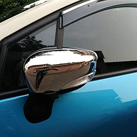 Couvertures remplacement miroir Fit For Captur Kaptur Clio IV 2013 2014 2015 2016 ABS Miroir Aile Chrom/é Chapeau De Couverture Autocollant De Voiture Styling Accessoires Miroir C/ôt/é Couverture Protec