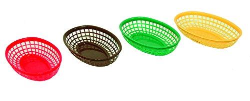 Update International (BB96R) Oval Fast Food Baskets [Set of 12]