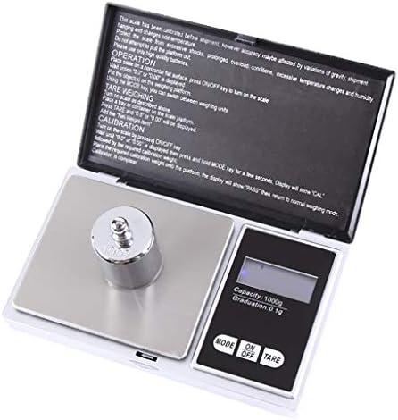 Yue668 Schmuck mit einem Gewicht von 0,01 g Hochpräzise Digitalwaagen für Gold Sterling Silber Schmuck Ausgleichsgewicht Elektronische Waage Min Hochpräziser Premium-Edelstahl (1000g/0.01g)