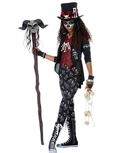 Voodoo Witch Doctor Halloween Costumes (Voodoo Charm Girls Costume)