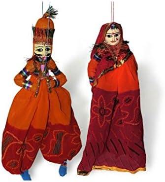 The Hue Cottage marioneta Rajasthani Artesanal par Obra Maestra figurita Multicolour Interior artículos de Regalo