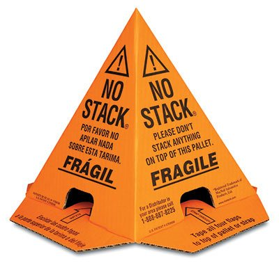 8'' x 8'' x 10'' No Stack Corrugated Cone - Orange (100 Protectors) - AB-138-9-004V by Miller Supply Inc (Image #1)