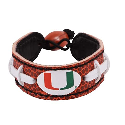 NCAA Miami Hurricanes Classic Football Bracelet - Gamewear Sports Bracelet