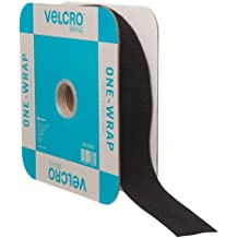 """VELCRO Brand - ONE-WRAP Roll, Double-Sided, Self Gripping Multi-Purpose Hook and Loop Tape, Reusable, 45' x 1 1/2"""" Roll - Black"""
