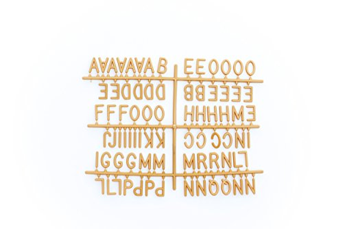 GOLD 1-inch 290 Character Helvetica Sprue Letter Set for Changeable Letter (Letter Sprue Set)