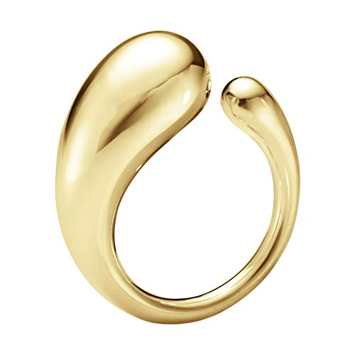 Georg Jensen Denmark MERCY 18 Kt Yellow Gold Ring Large Bold Elegant - New ()