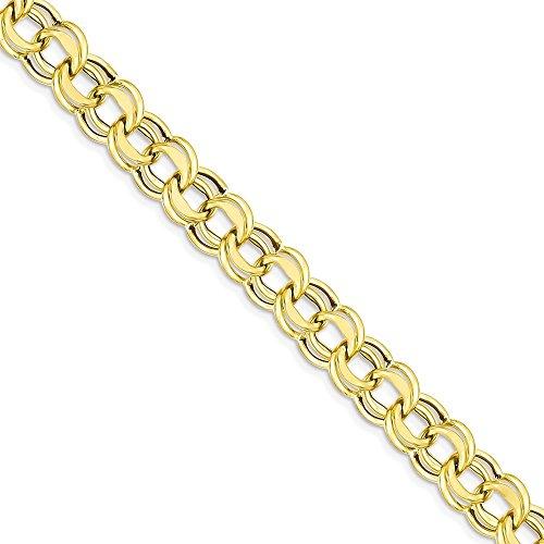 Icecarats Créatrice De Bijoux 14K Lite Bracelet Double Lien De Charme 8Mm De 7,25 Pouces