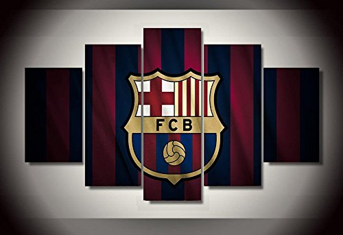 Barcelona fc wall poster picture canvas 5 pieces ()