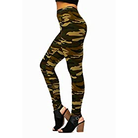 Ultra Soft High Waisted Leggings In 30 Colors Regular And Plus Size For Women Full Length Camouflage One Size