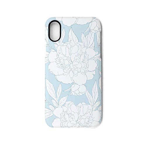 YUEch iPhone X Case iPhone 10 Case Beautiful White Peony Flowers TPU Shock-Absorption & Skid-Proof Anti-Scratch Phone Case Cover Compatible with iPhone X