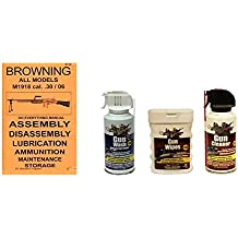 Browning BAR M1918 .30/06 Do Everything Manual + Ultimate Arms Gear Gun Cleaner Spray + Wash + Wipes