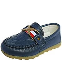 Femizee Boys Girls Fashion Soft Oxford Sole Slip On Flat Loafer Shoes(Toddler/Little Kid)