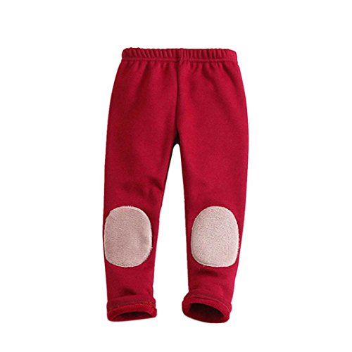Lined Pants Trousers (Starxin Newborn Toddler Kid Baby Girls Boys Fashion Cute Cotton Stretch Leggings Warm Thick Lined Long Pants Trousers (Red, 2T(1~2years)))