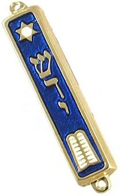 Amazon Com 10 Commandments Mezuzah 24k Gold Plated Jewish 2 7 Mezuza Judaica Made In Israel Home Kitchen