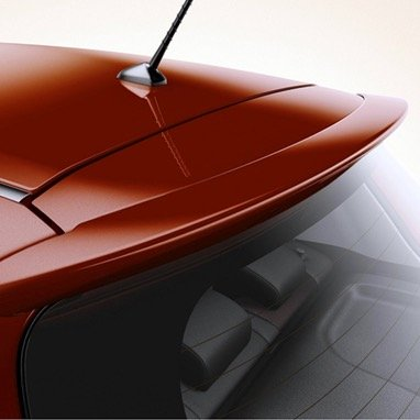 JSP Painted Rear Wing Tailgate Spoiler Compatible with 2006-2013 Toyota Yaris Liftback 3P0 Super Red V Factory Style 333007 - Toyota Yaris Liftback