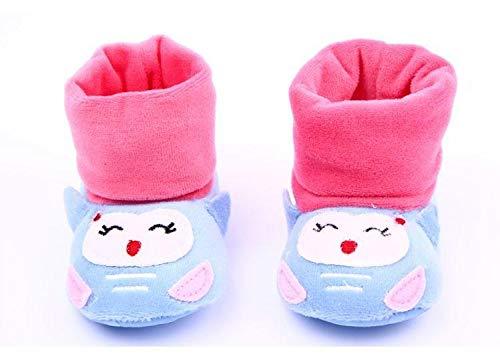 KathShop 0-12 Months Baby Girls Boys Lovely 3D Cartoon Animal Cotton Warm Soft Non-Slip High Crib Shoes 12cm