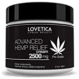 LOVETICA Hemp Pain Relief Cream 2500mg - Best for Muscle, Joint & Arthritis