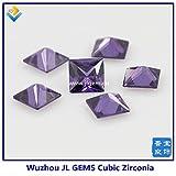 Calvas (100pcs/lot) Wow! AAAAA Grade SQ Cubic Zirconia Stone/CZ Square Shape Loose Stone/#10 Dark Purple 2x2mm-15x15mm - (Item Diameter: Square CZ 11X11MM)