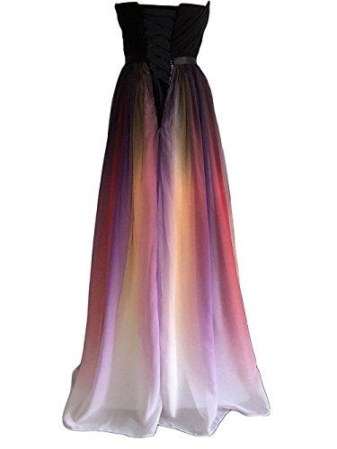 Trajes Tarde de Rot Gala la de Gasa Corazón de de Vestido Vestido Forma 1 Mujeres Largo Noche JAEDEN qxAR6Xp1