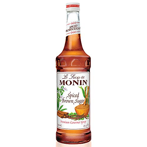 (Monin - Spiced Brown Sugar Syrup, Sweet With Hints of Cinnamon, Natural Flavors, Great for Coffee, Desserts, Ciders, and Cocktails, Vegan, Non-GMO, Gluten-Free (750 ml))