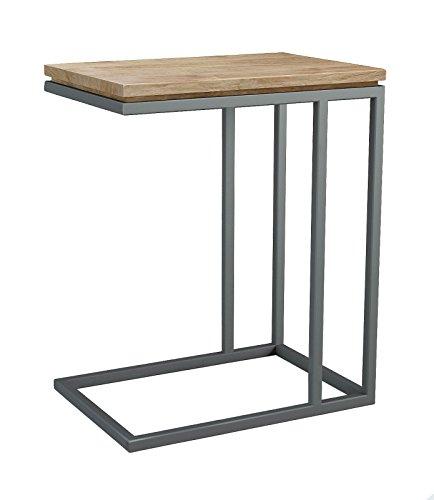 ASTA Teak and Iron C-Shape Side Table - Simplicity, TI-361 (Plantation Teak Frame)