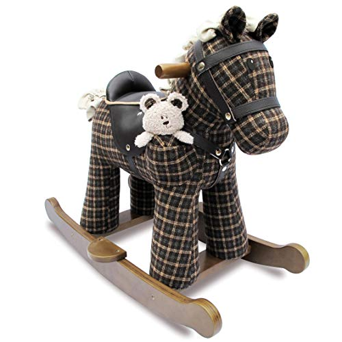 (Little Bird Told Me Rufus & Ted Infant Wood Rocking Horse LB3018)