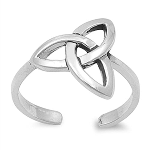 Celtic Knot Trinity .925 Sterling Silver Toe Ring