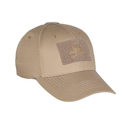 Skull Tactical Baseball Cap Mens Visor Operator Hat Adjustable With Velcro (Coyote, Medium)