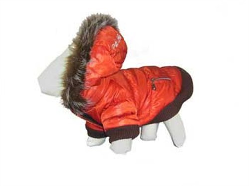 Pet Life Metallic Dog Parka Small Orange
