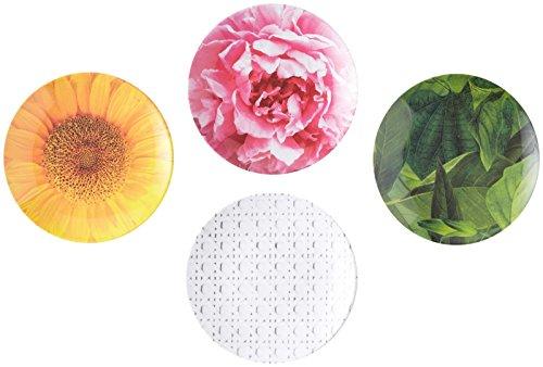 Kate Spade New York Patio Floral Melamine Tidbit Plate Set, Multicolor