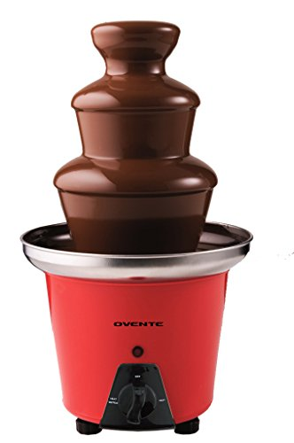 Why Choose Ovente 2-Tier Chocolate Fondue Fountain Stainless Steel, 12 inch, Red (CFS53R)