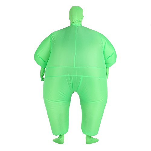 Dingq Funny Adult Size Inflatable Full Body Costume Suit Air Fan Operated Blow Up Fancy Dress Halloween Sports Party Fat Inflatable Jumpsuit Costume