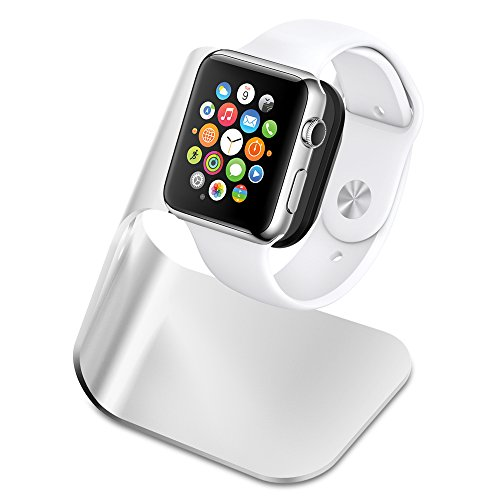 Spigen S330 Designed for Apple Watch Stand with Aluminum Body for Apple Watch Series 4 / Series 3 / Series 2 / Series 1 / 44mm / 42mm / 40mm / 38mm - Patent Pending