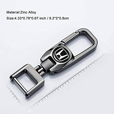 HEY KAULOR Car Logo Key Chain Key Ring for Civic Accord CRV Pilot HR-V Business Gift Birthday Present for Men and Woman Pack of 2: Automotive