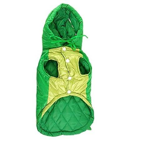 eDealMax Jardin Frente Diseño dinosaurio Coat Para Perros Grandes de invierno, Verde/Lima
