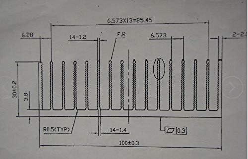 23x23x16.5mm, WAVE-23-165 Heat Sinks Wave Series Low Profile Heatsink BGA Chipset Aluminum Top Mount Pack of 40