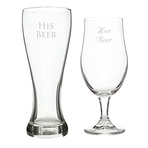 Glasses Pilsner Concepts Cathys - Cathy's Concepts His Beer/Her Beer Pilsner Set