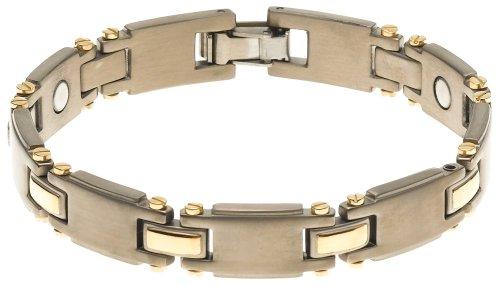 UPC 700413425758, Sabona Men's Titanium Duet Magnetic Bracelet -Large