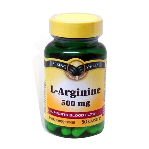 Spring Valley: 50 capsules de 500 mg Ea. L-Arginine